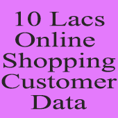 10 Lac Online Shopping Customers  (All India) Data - In Excel Format