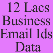12 Lacs  Business Email Ids Data (All India) - In Excel Format