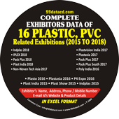 Exhibitors Data of 16 Plastic Related Exhibitions - In Excel Format  (Exhibition Wise)