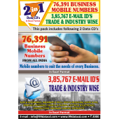Trade Wise Email Id's& Business Mobile Number Combos