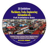 Exhibitors Data of 20 Machinery & Tools Exhibition - In Excel Format  (Exhibition Wise)