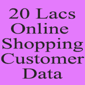 20 Lac Online Shopping Customers  (All India) Data - In Excel Format