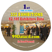 332 Exhibitions &  62,185 Exhibitors Data