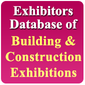 Exhibitors Data of 39 Building, Constn., Hardware, Sanitary, Wood, Glass Etc. Exhibitions - In Excel Format