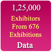 1,25,000 Exhibitors Data From  676 Exhibitions - In Excel Format (Exhibition Wise)