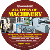 73,000 All Types of Machinery  (All India) Data - In Excel Format