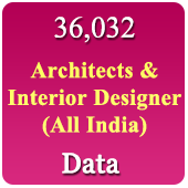 36,032 Architects & Interior Designers  (All India) Data - In Excel Format