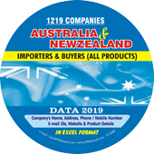 1,219 Importers & Buyers of Australia  & Newzeland (All Products)  Data - In Excel Format