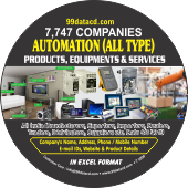 7,747 Automation (All Types)  Products Data - In Excel Format
