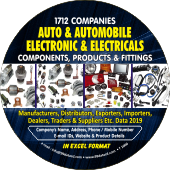 1,712  Auto & Automobiles Electronics & Electrical Components, Products & Fittings Data - In Excel Format