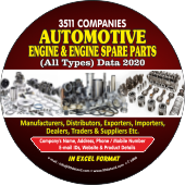 Automotive Engine &  Engine Spare Parts Data