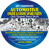 3,511 Automotive Engine & Engine  Spare Parts (All Types) Data - In Excel Format