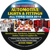 1,608 Automotive Lights & Fittings  (All Types) Data - In Excel Format