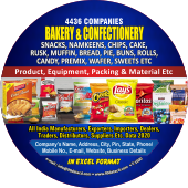 4,436 Bakery & Confectionery  Products Data - In Excel Format
