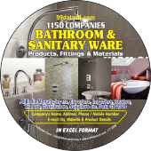 1,150 Bathroom & Sanitary Ware (All India) Data - In Excel Format