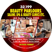 32,199 Beauty Parlours, Salons, Spa & Bauty Clinics etc. (All India) Data - In Excel Format