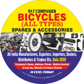 917 Bicycle (All Types) Spares & Accessories Data - In Excel Format