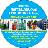 1,314 Bottles, Jars, Cans &  Containers Data - In Excel Format