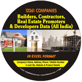 12,361 Builders, Contractors, Real Eastate Promoters & Developers Data - In Excel Format