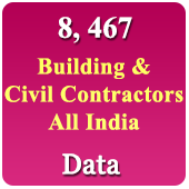 8,467 Building & Civil Contractors All India Data - In Excel Format