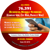 76,391 Companies Business Mobile  Numbers Data - In Excel Format