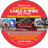 6,178 Cable & Wire Products & Machinery Data - In Excel Format