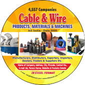 4,557 Cable & Wire Products Material & Machines Data - In Excel Format