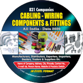821 Cabling & WiringComponents & Fittings Data - In Excel Format