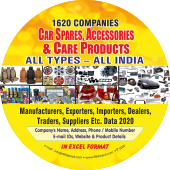Car Spares, Accessories & Care Products All Types- All India