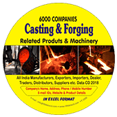 6,000 Casting & Forging Products & Machinery Data - In Excel Format