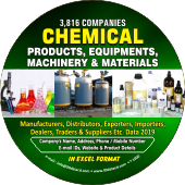 Chemical Products, Equipments Machinery Data