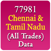 77981 Chennai, Rest Tamil Nadu Companies Related To All Trades / Industries Data - In Excel Format