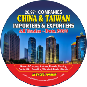 26,971 China & Taiwan Exporters  & Importers Data - In Excel Format