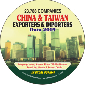 23,788 China & Taiwan Exporters  & Importers Data - In Excel Format