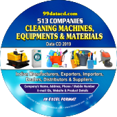 513 Cleaning Machines, Equipments & Materials Data - In Excel Format