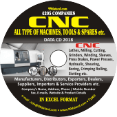CNC Machines, Tools &  Spares etc. Data