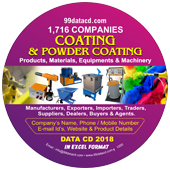 Coating & Powder Coating Products & Materials Data