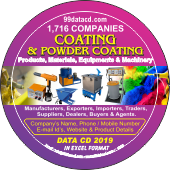 1,716 Coating & Powder Coating  Products Data - In Excel Format