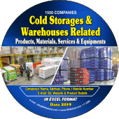 1,500 Cold Storage & Warehouses  Products Data - In Excel Format