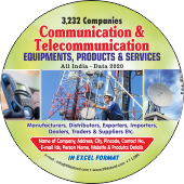 3,232 Communication & Tele - Communication  - In Excel Format