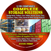 3,195 Complete Storage Solutions   (All India) Data - In Excel Format