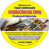 7,022 Construction Products & Materials Data - In Excel Format