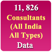 11,826 Consultants Data All India - All Types - In Excel Format