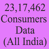 23.17 Lacs All India Consumers  Data - In Excel Format