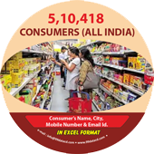 5,10,418 Consumers All India Data - In Excel Format