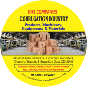 1,075 Corrugation Industry Products & Machinery Data - In Excel Format