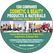 1,500 Cosmetic & Beauty Products  & Materials Data - In Excel Format