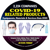 2,224 Companies Covid 19 Related Products, Equipments, Materials & Services Data - In Excel Format