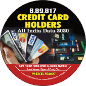 9,34,262 Credit Card Holder (All India) Data - In Excel Format