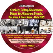 Crockery, Cutlery, Kitchenware,  Barware Etc. Data